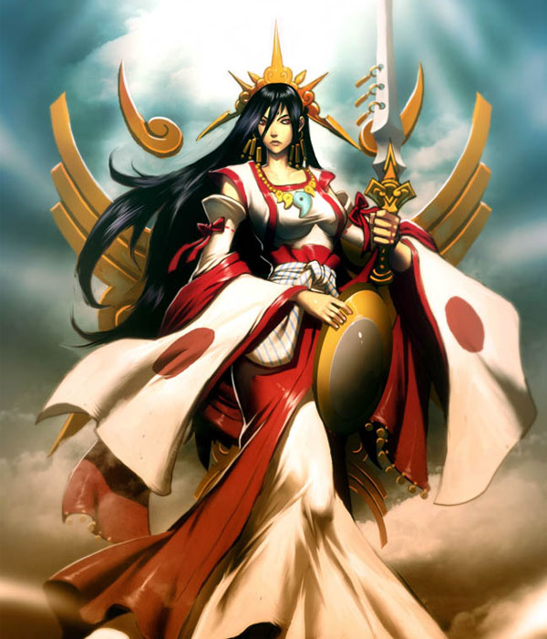 Amaterasu-sun-goddess-japanese-digital-art