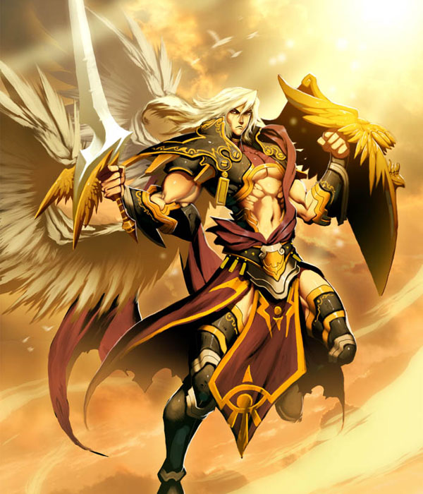 angel-Gabriel-archangel-sword-shield-illustration