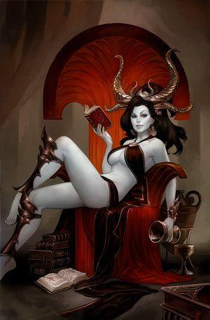 This is Ereshkigal, Goddess of the Underworld. (Sumerian not Babylonian)