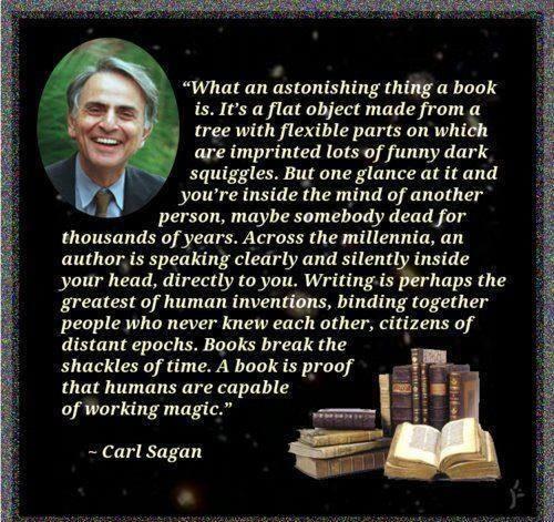 carl sagan y los libros