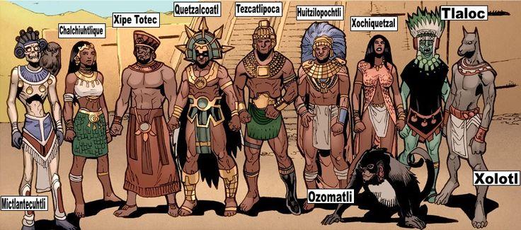 aztecas gods