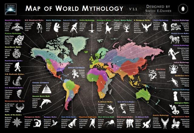 mapa de mitologias