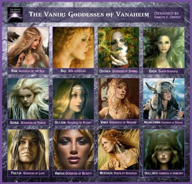 vanir diosas